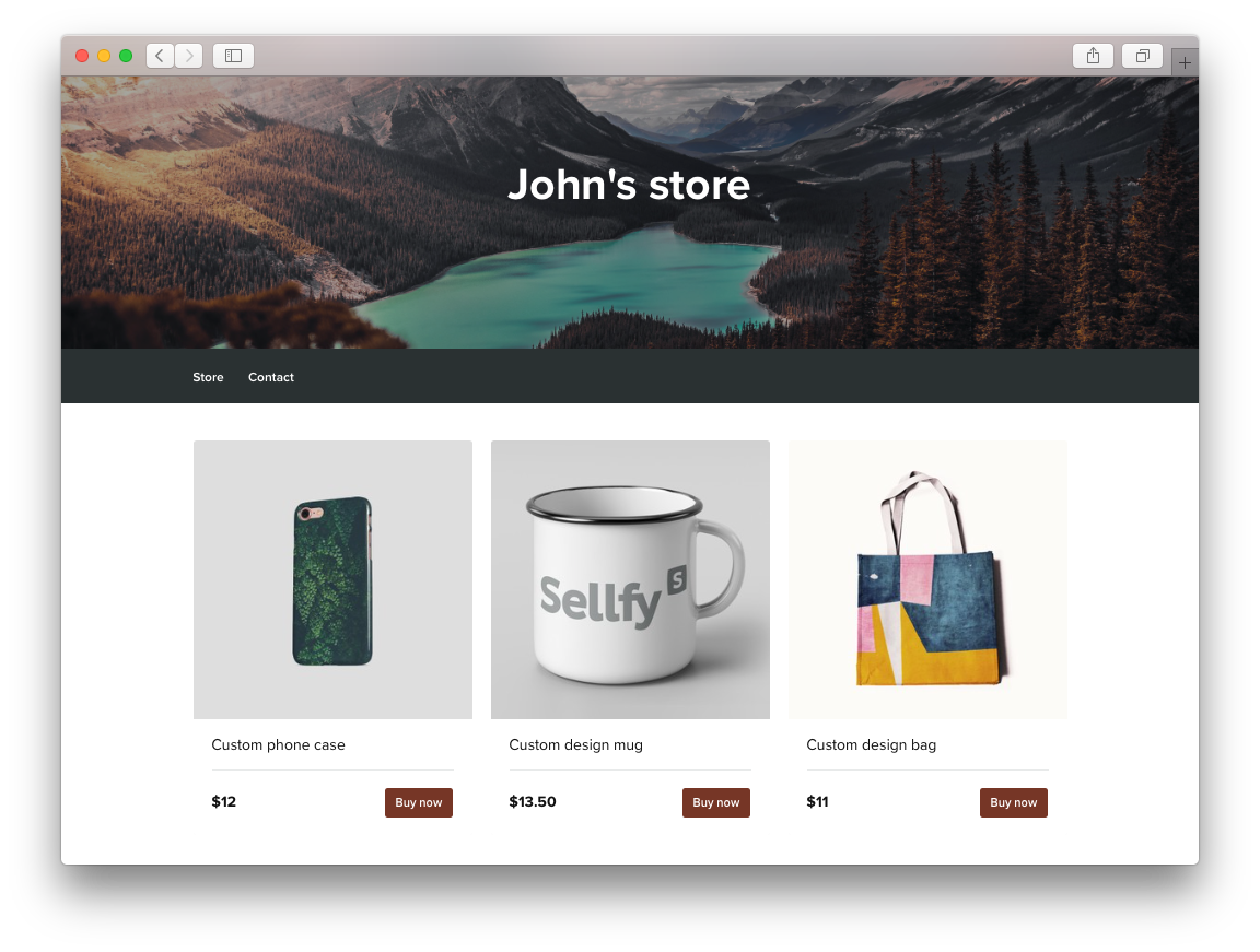 Sell Custom Products from Your Own Store   Sellfy