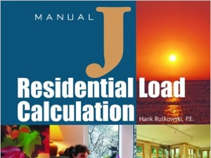 manual J & D residential load calculation
