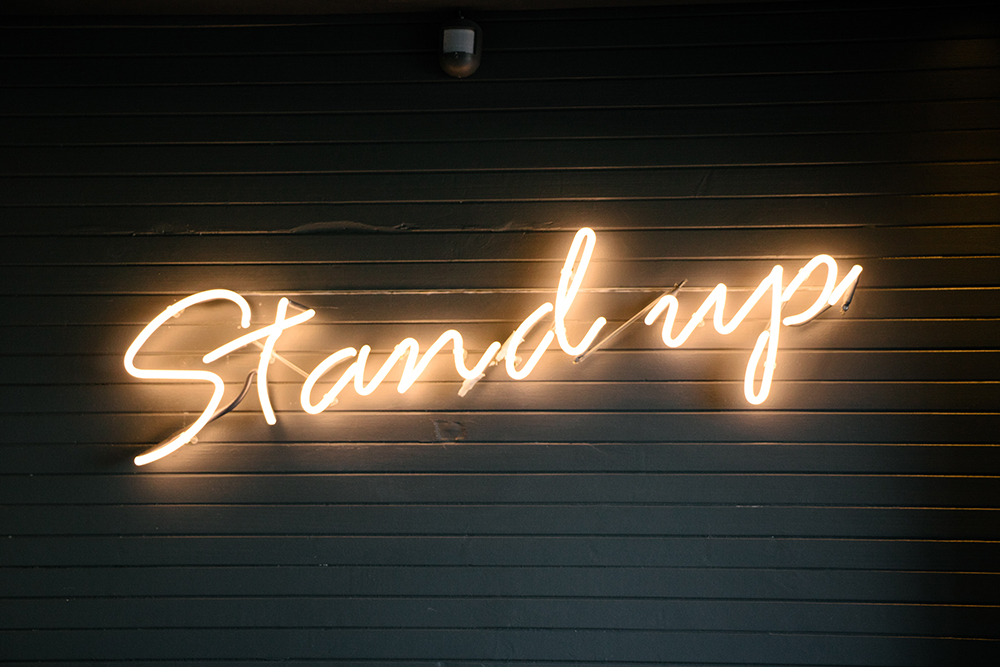 Stand up quite image