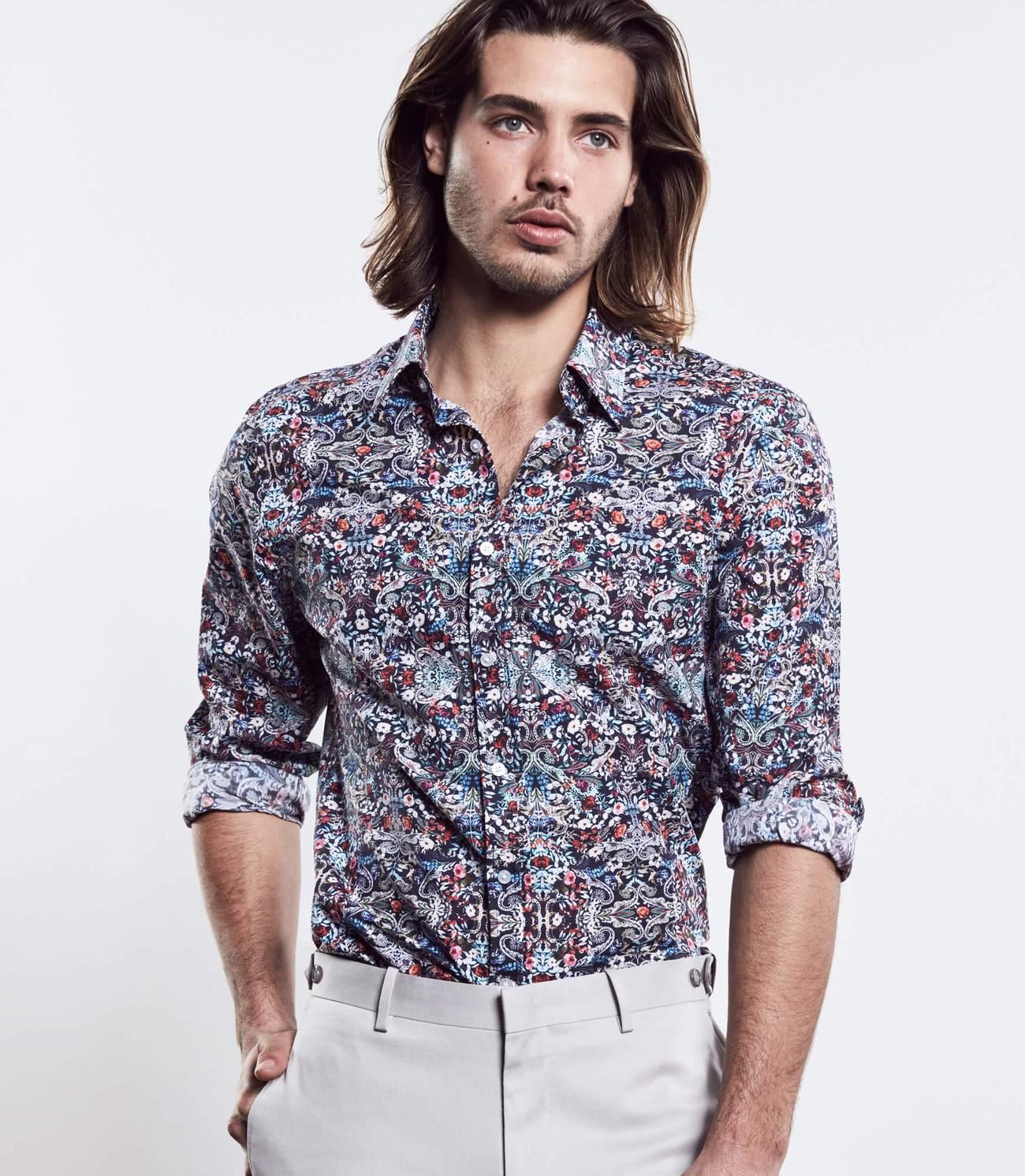 Pop Floral Print Shirt, Calibre