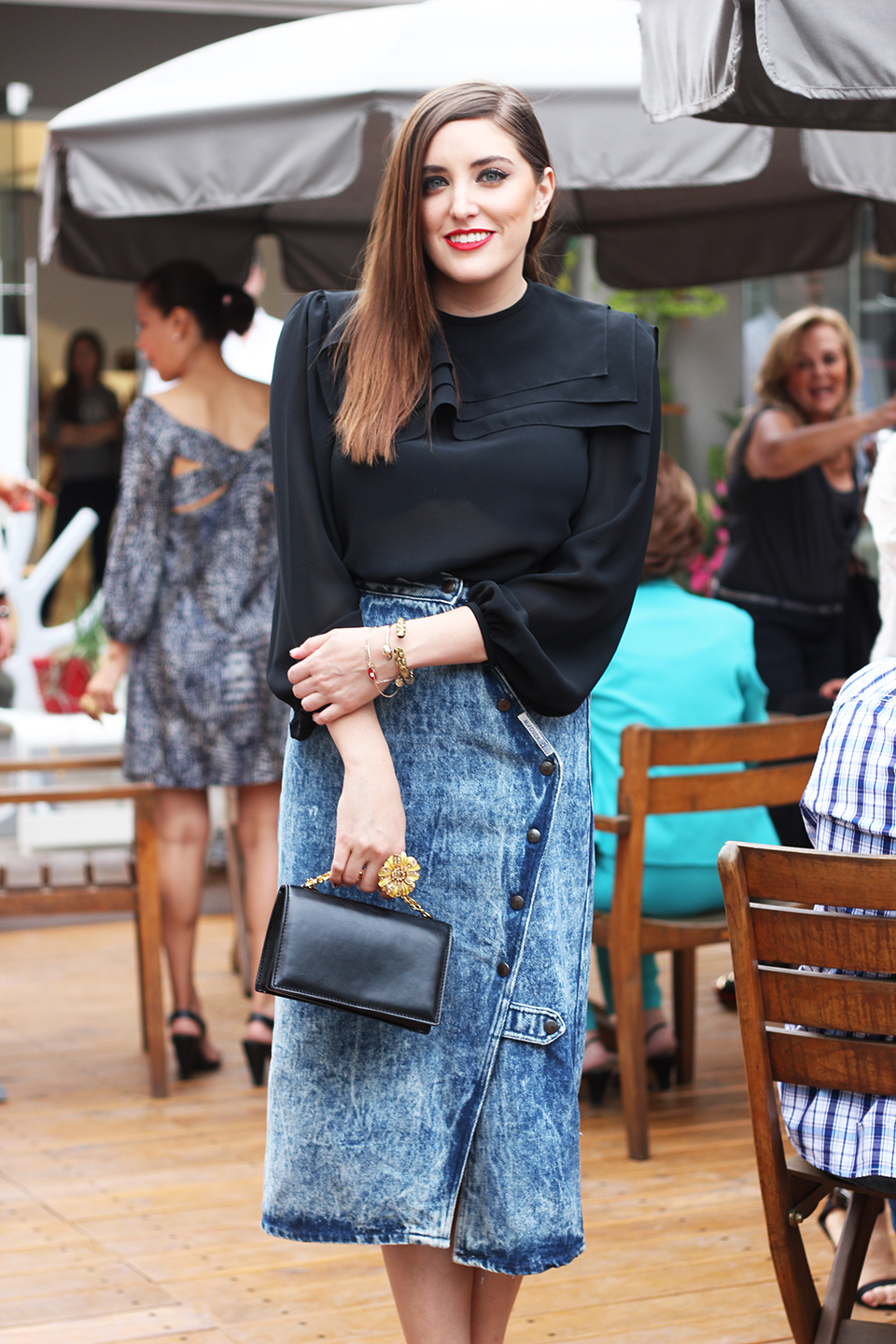 my philosophie, sofia lascurain, fashion blogger, style, hanger concept store, special guest, denim skirt, party