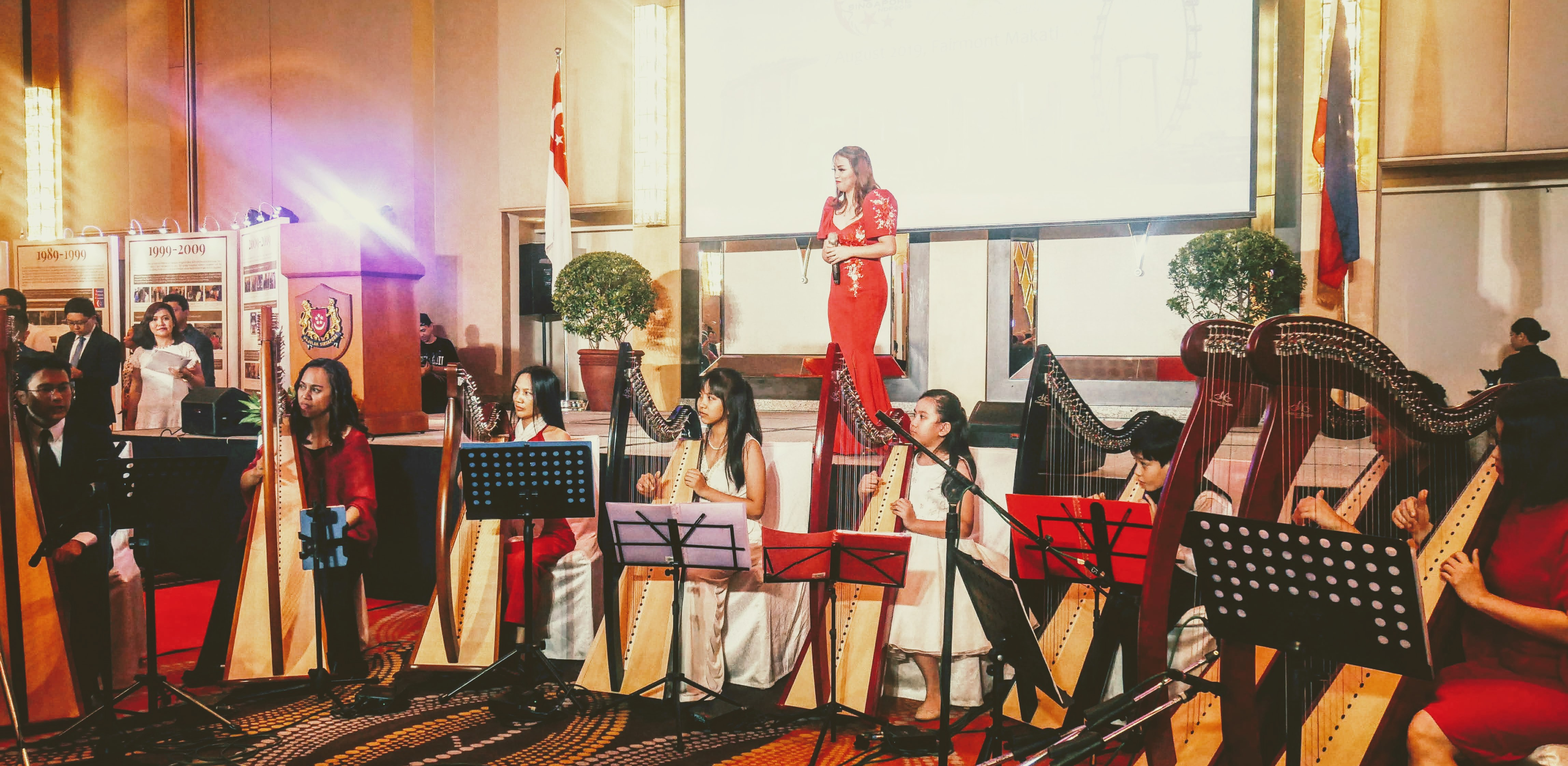 HarpRoom's Students Perform at Singapore's 54th National Day