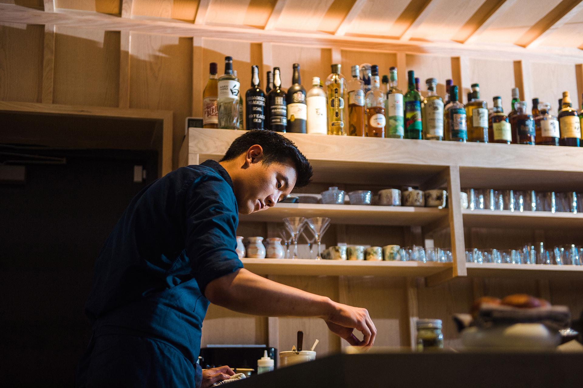 Head Chef Ki preparing a dish