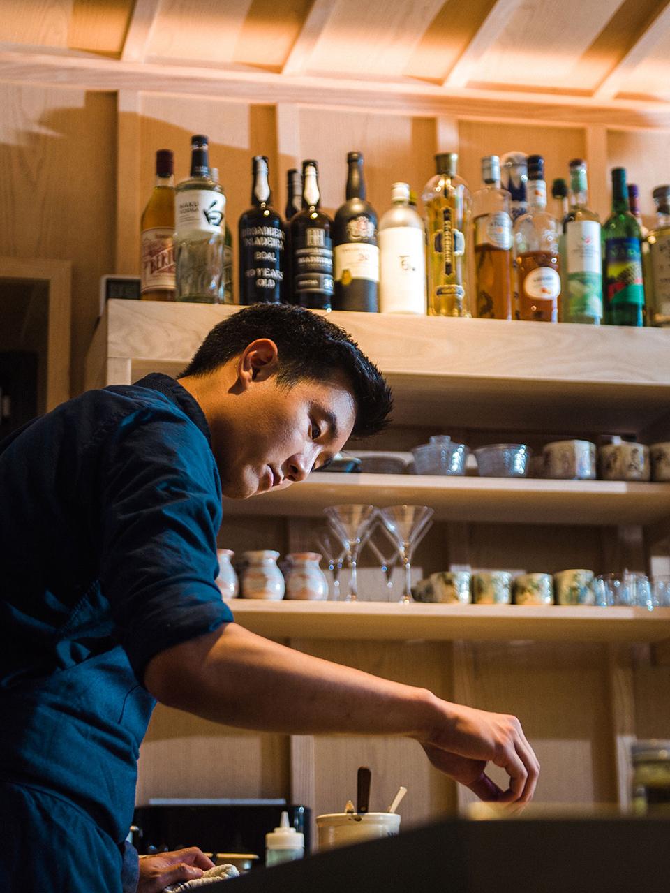 Head chef Ki Chung preparing a dish