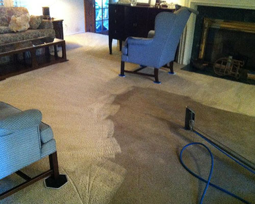 Living room carpet cleaning in Sunland, CA