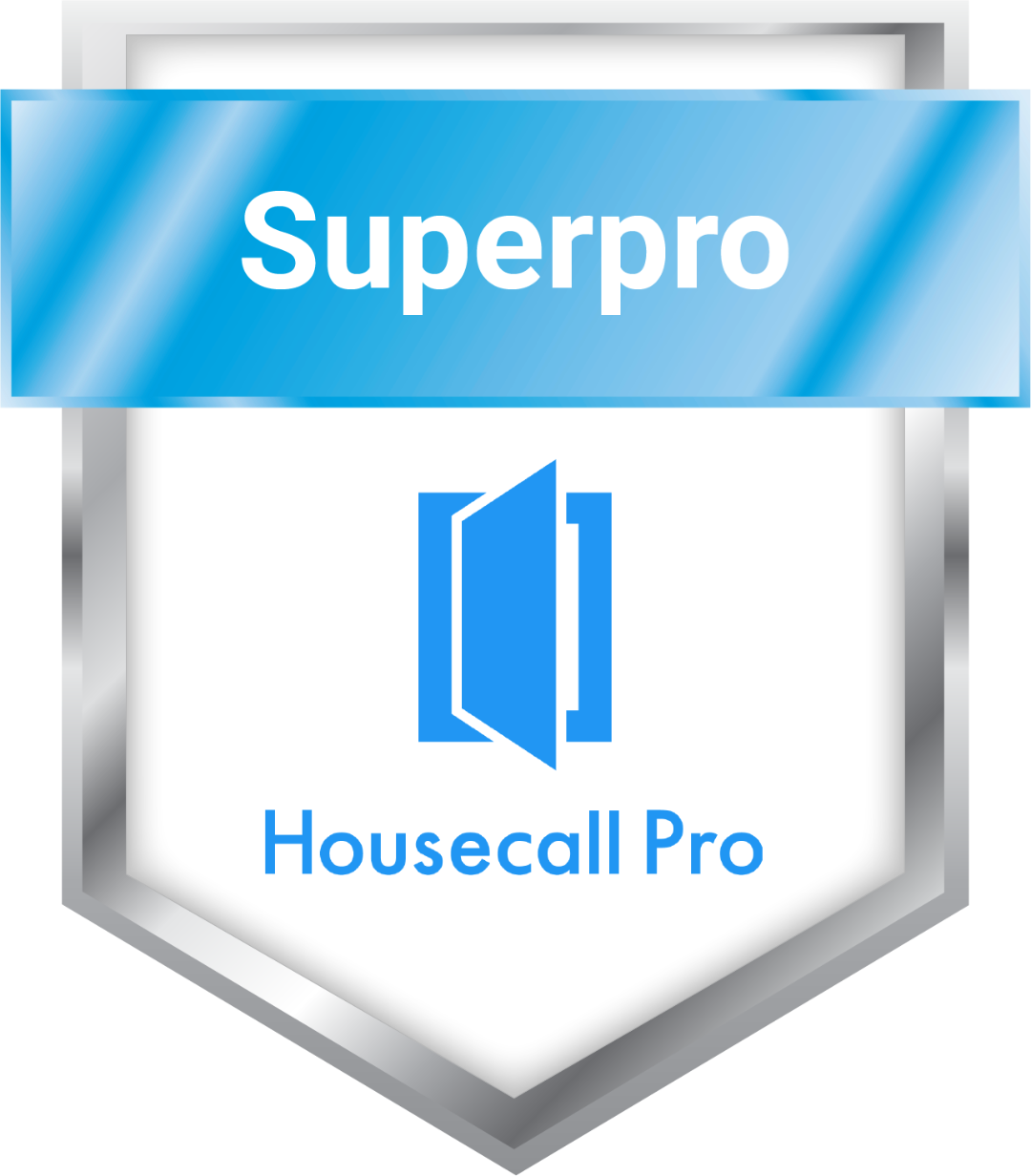 We're proud to have earned the Superpro Housecall Pro Badge