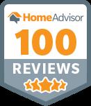We've achieved 100 reviews on HomeAdvisor