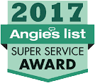 We're proud to have won the 2017 Angie's List Super Service Award