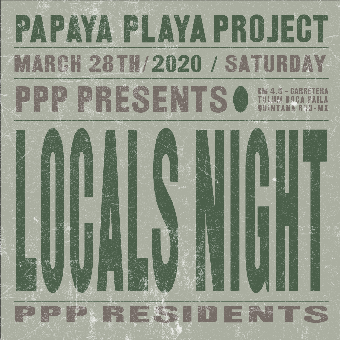 PPP presents Locals Night