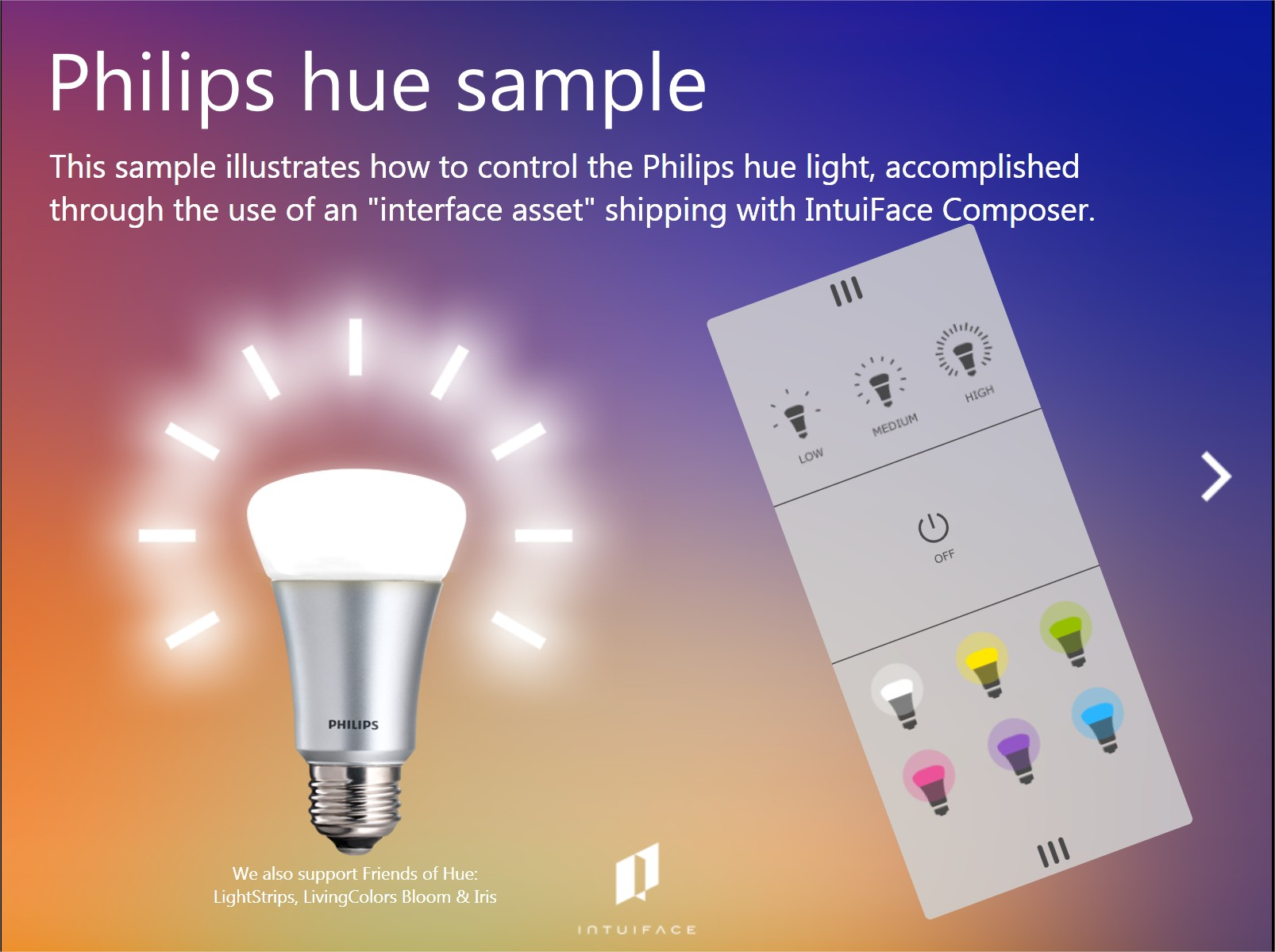 Philips Hue Demo (Connected Object)