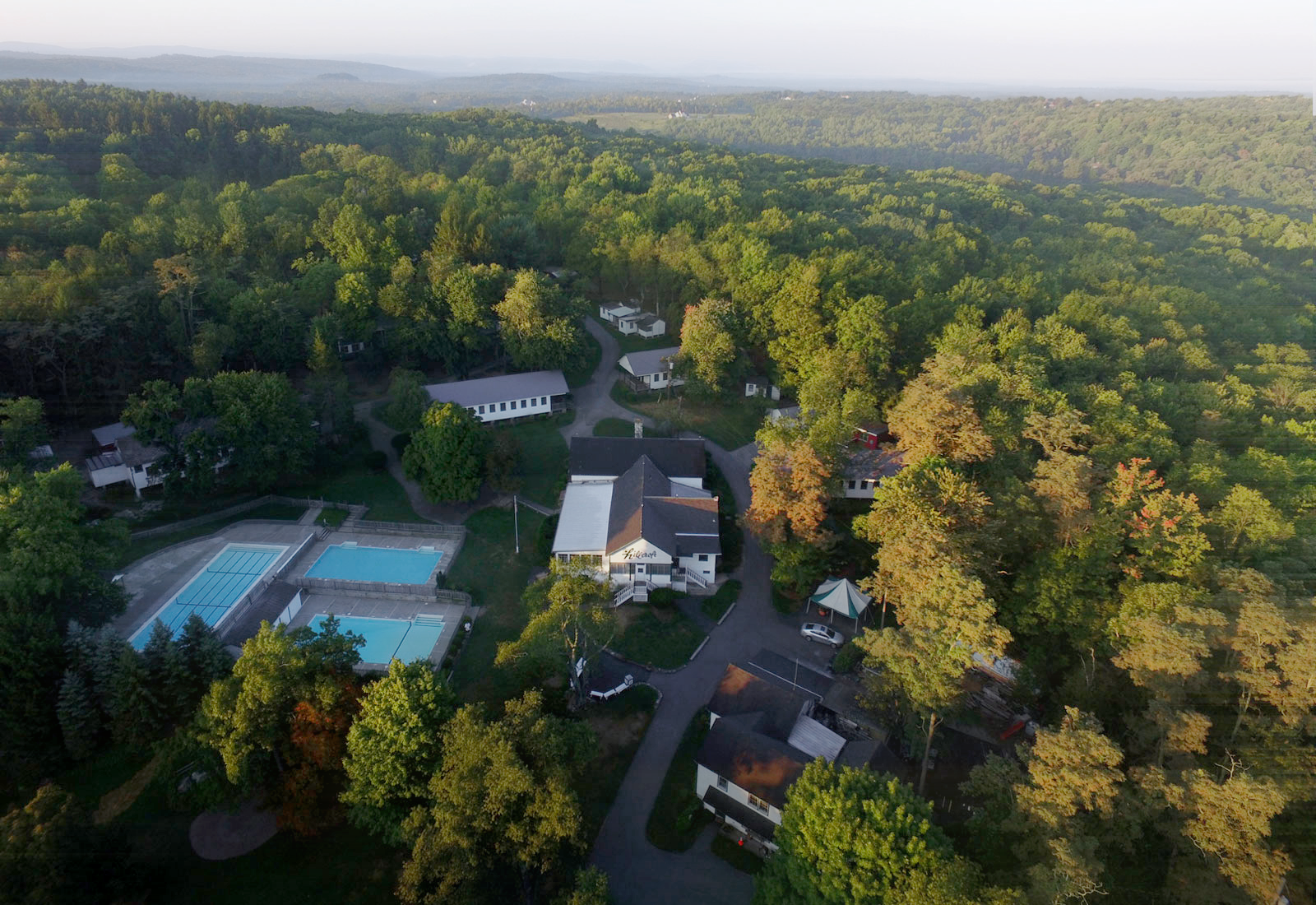 Aerial view of Hillcroft Day Camp