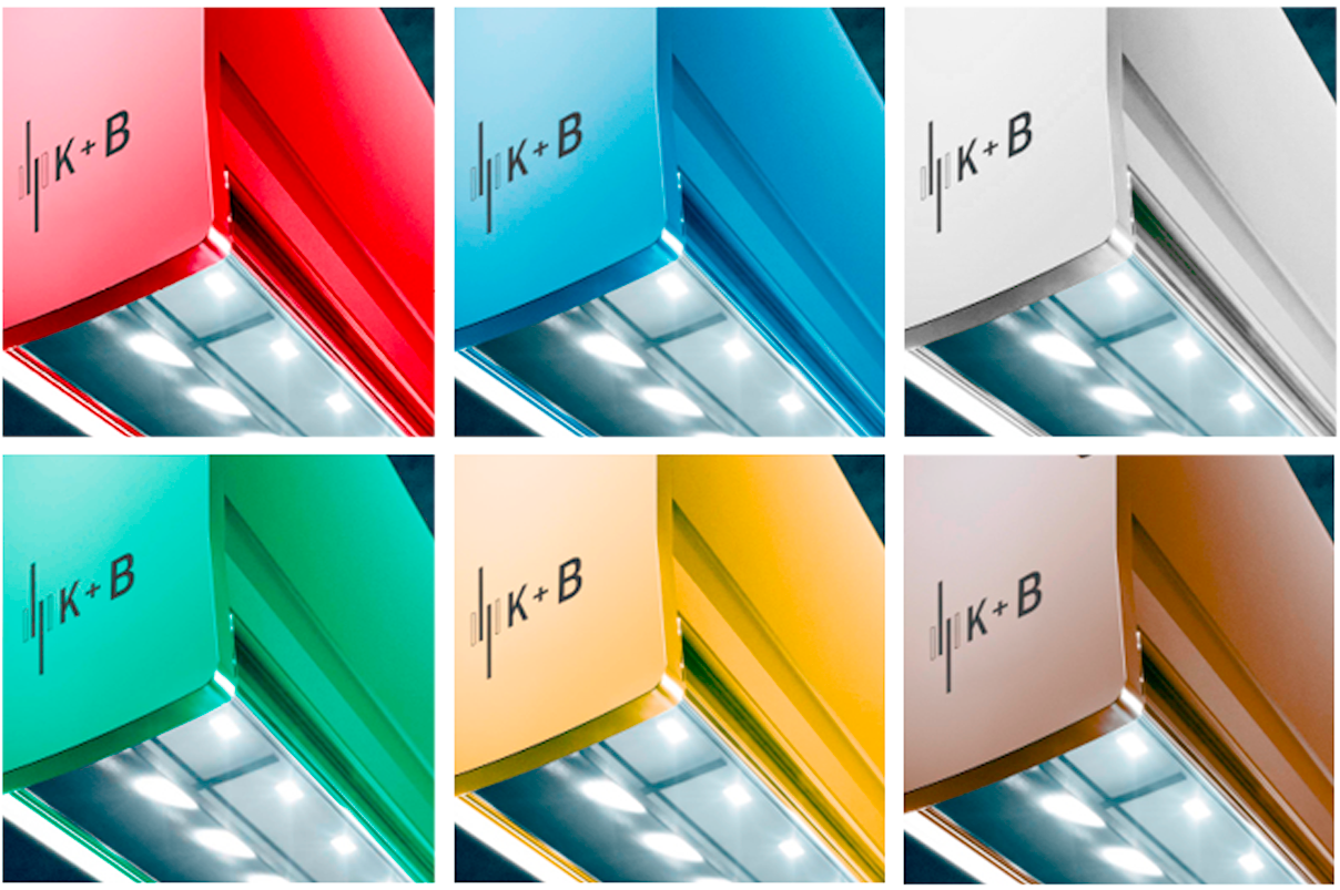 Rot? Blau? Weiß? Schwarz? Mocca? Grün? Gold? Silber? Orange? Wählen Sie Ihre professionelle LED-Systemleuchte einfach in Ihrer  Unternehmensfarbe nach RAL!