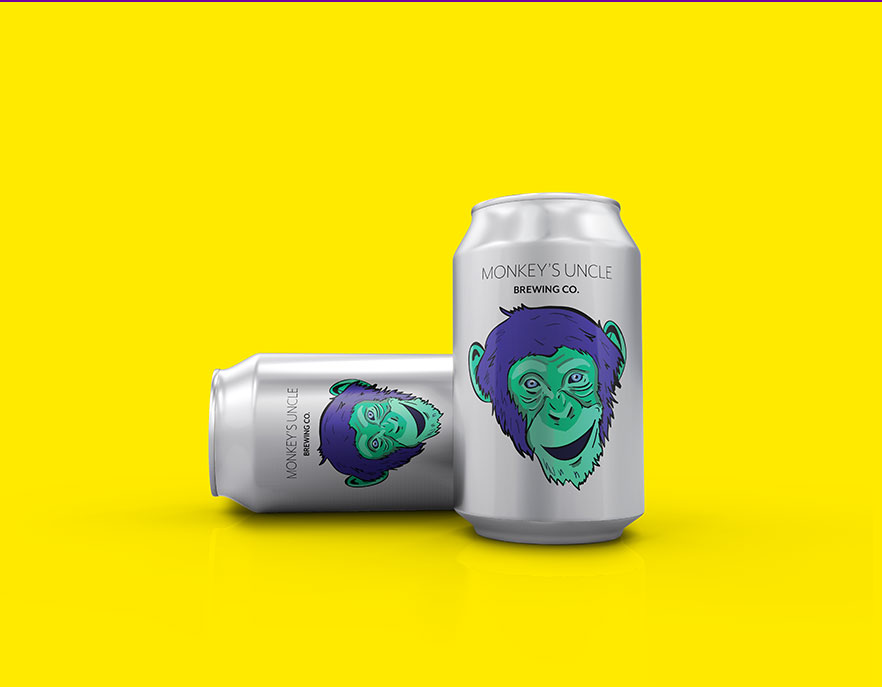 Monkey's Uncle Brewery Can Design