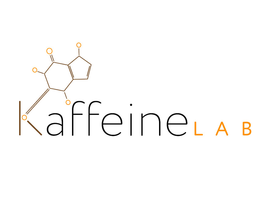 Kaffeine Labs clean and minimalistic logo design