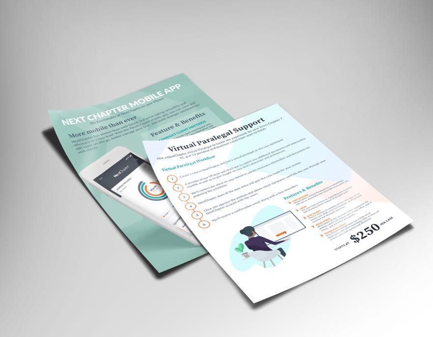 NextChapter Bankruptcy Software Sales Collateral Design