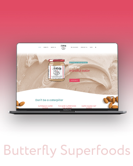 Butterfly Superfoods Website Design & Development