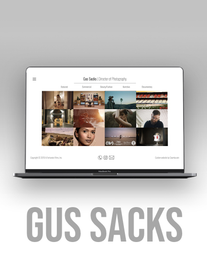 Gus Sacks Director of Photography Website UX, UI Design & Development