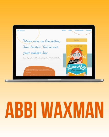 Website UI / UX Design and Development for Bestselling Author Abbi Waxman
