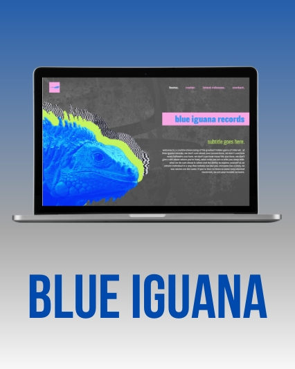 Website UI / UX Design & Development for Blue Iguana Record Label