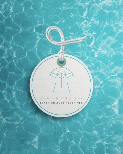 Logo and Branding for Claire and Sky Children's Swimwear