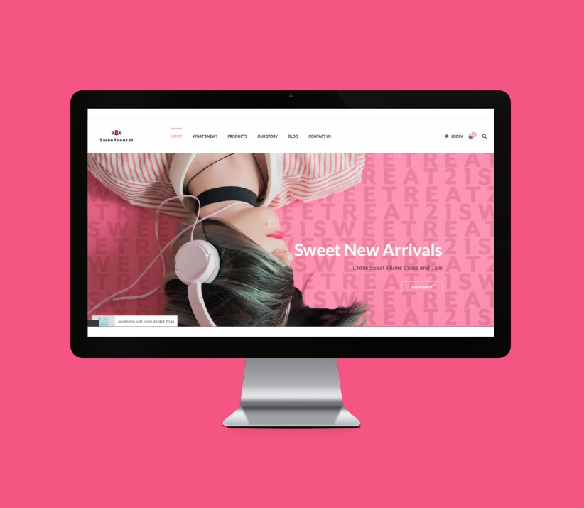 Website UI Design for SweeTreat21 Shopify eCommerce Site