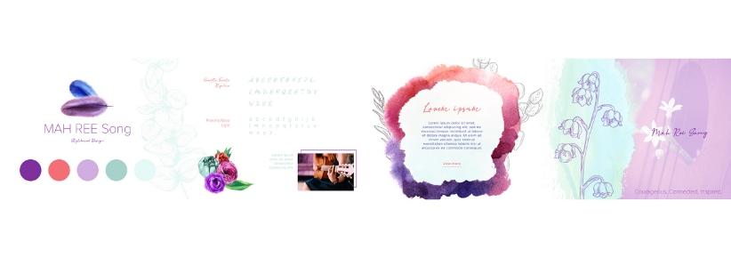 Branding and CSS UI Style Aesthetic for Mary Ross, Singer-Songwriter