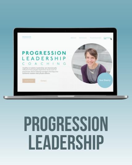 Progression Leadership Coaching - Leadership Coach Website UI/UX Website Design