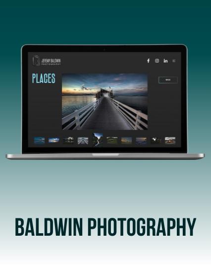 Baldwin Photography - Photographer Website UI/UX Website Design