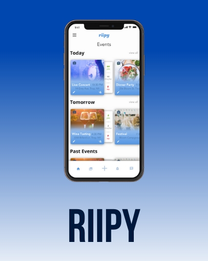 UI/UX design for the Riipy mobile app