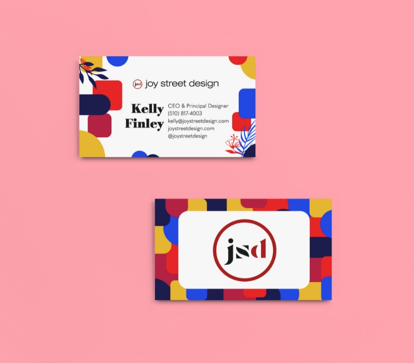 Business Card Graphic Design for Oakland Interior Design Firm Joy Street