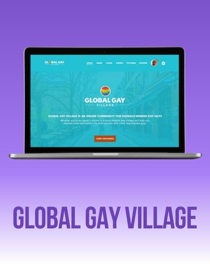 UI/UX Website design for Global Gay Village
