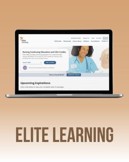 UI/UX Website redesign for Elite Learning