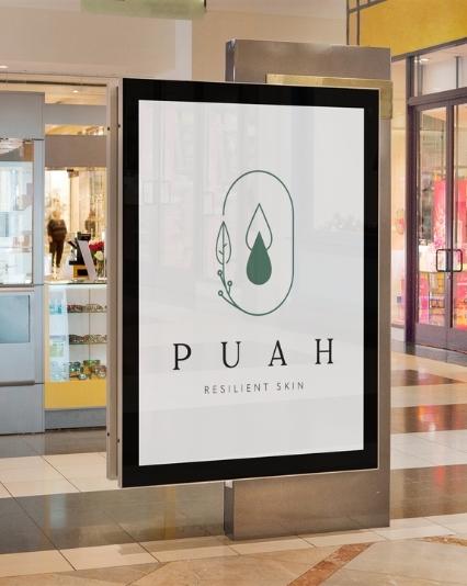 Logo design created for skincare brand, Puah