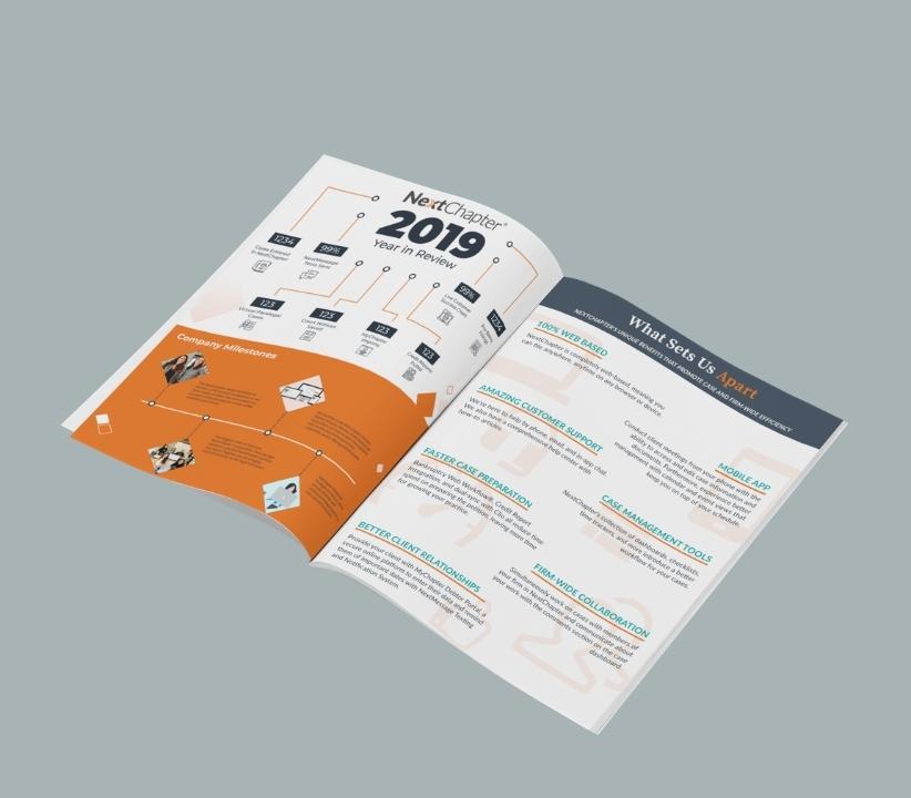 Asset design for a NextChapter infographic