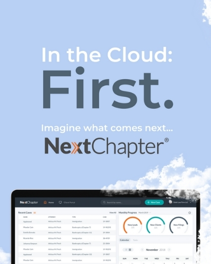 Asset designs for the NextChapter 'First' ad campaign