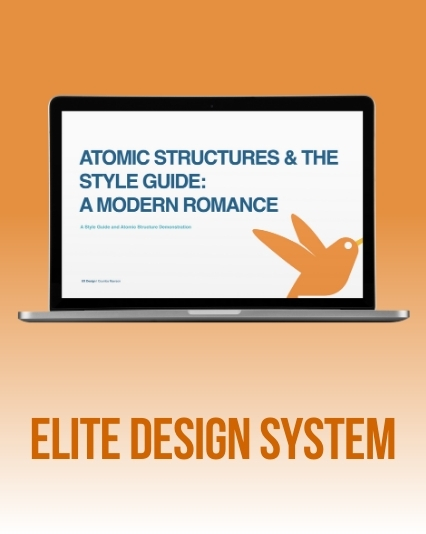 UI/UX Atomic structure design system for eLearning company