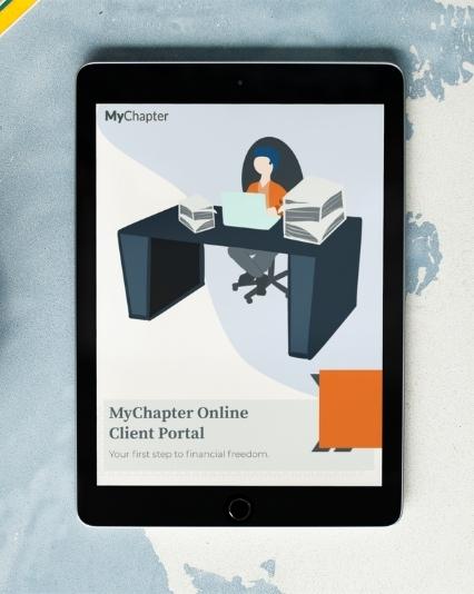 Customer guide design for NextChapter's MyChapter client portal