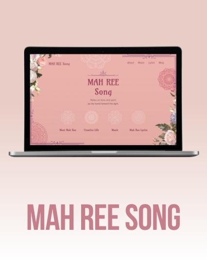 UI/UX Website designed for singer-songwriter Mah Ree Song