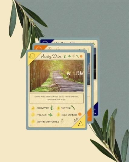 Recipe card designs for Sleepless Dream