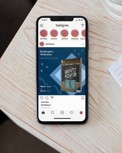 Social media graphics designed for NextChapter / Fastcase