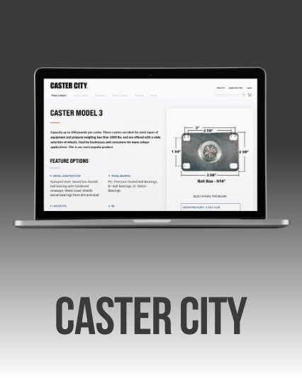 UI/UX Website redesign for Caster City