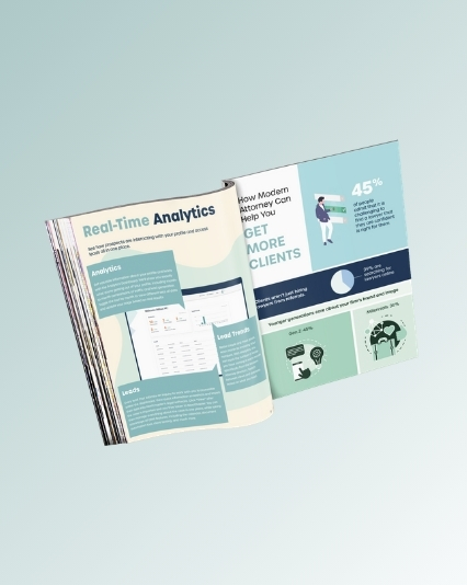Magazine design created for Modern Attorney