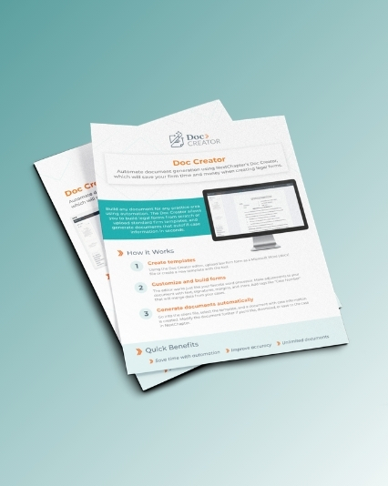Document designs created for NextChapter Doc Creator