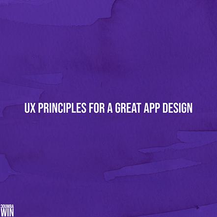 UX Principles for a Great Web App Design