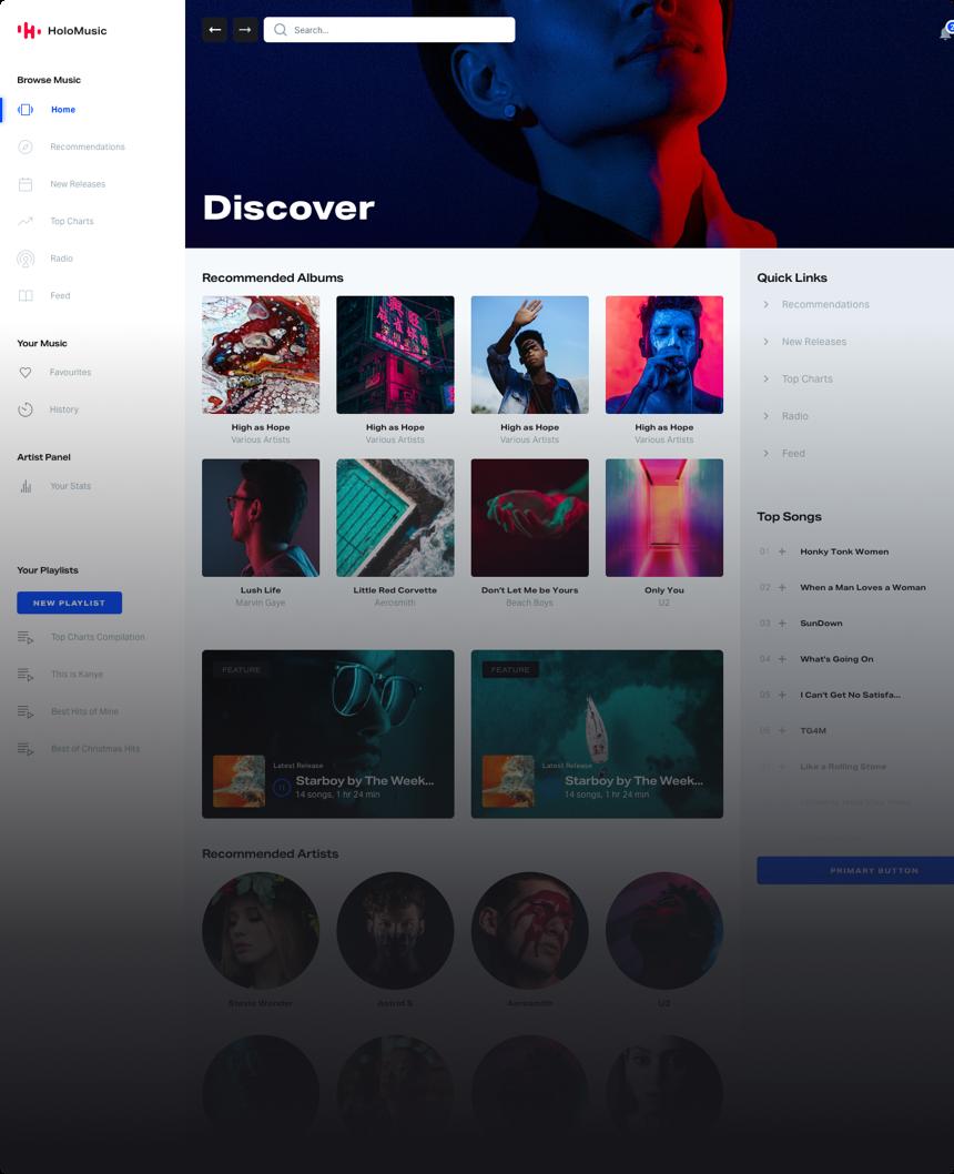 Holo Music Design System