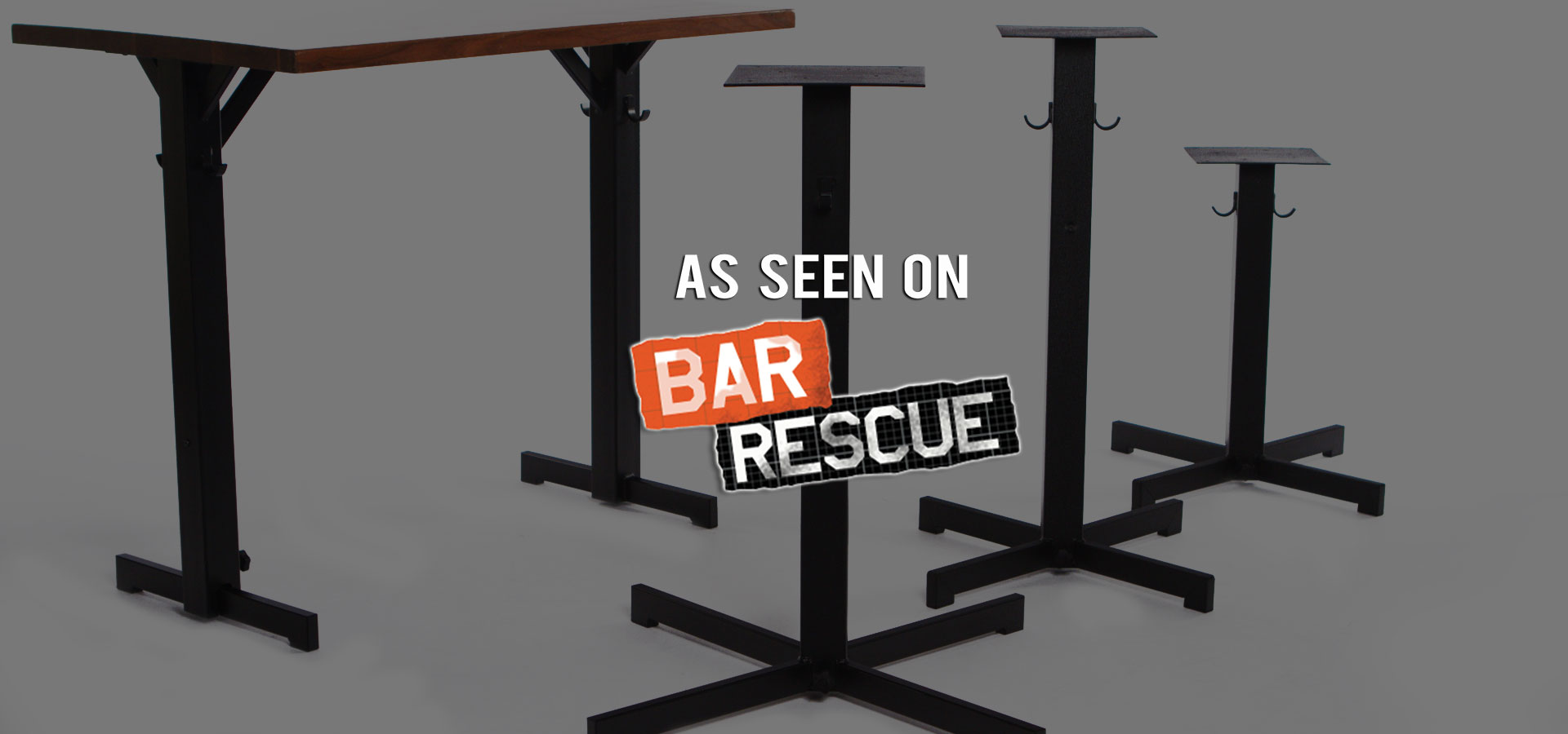 As seen on Bar Rescue - Rockless Table self leveling table bases
