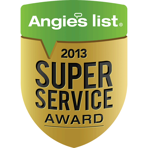 AC MAN is a proud angie's list super service award winner 2013