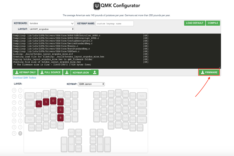 Ergodox QMK Configurator