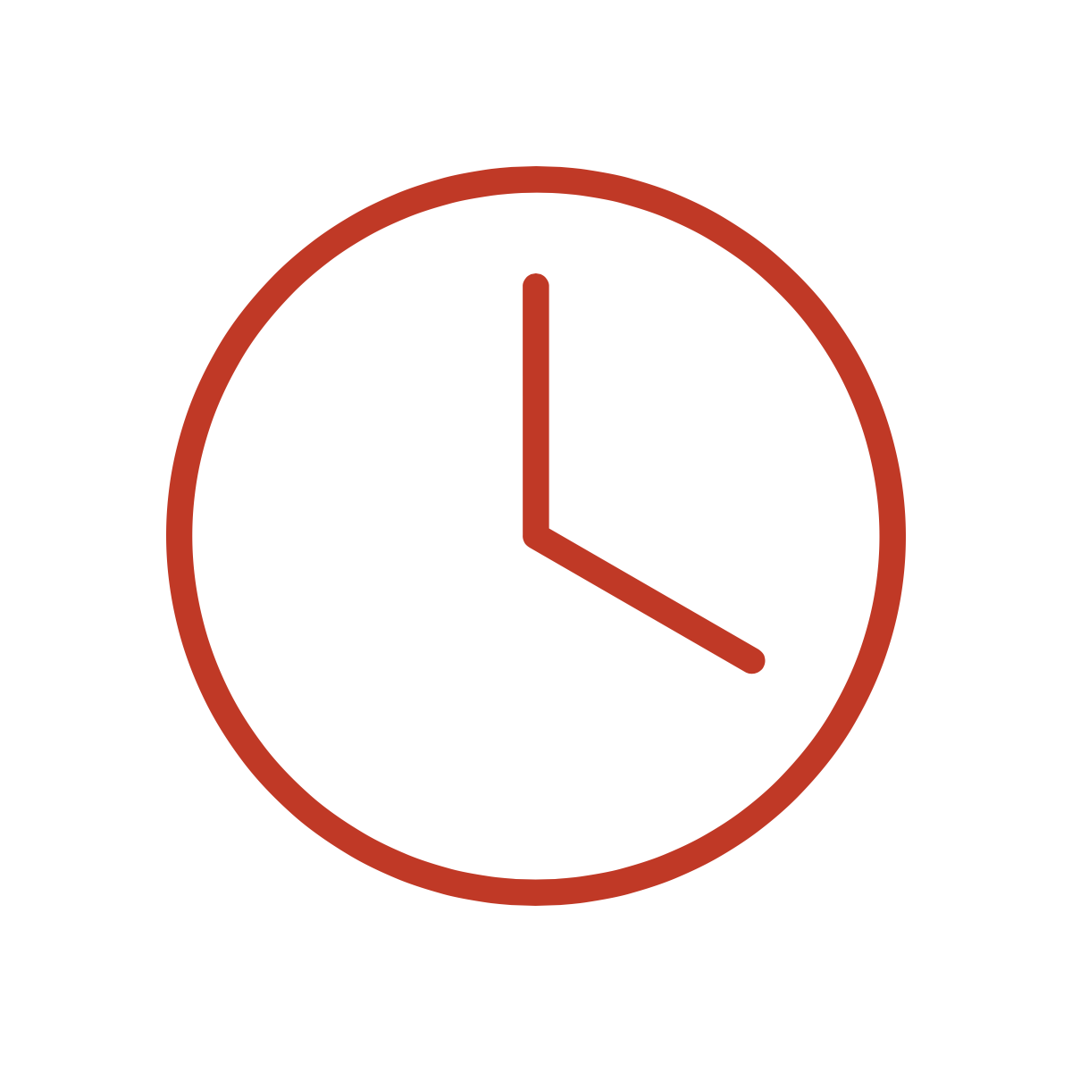 Clock icon representing probono time