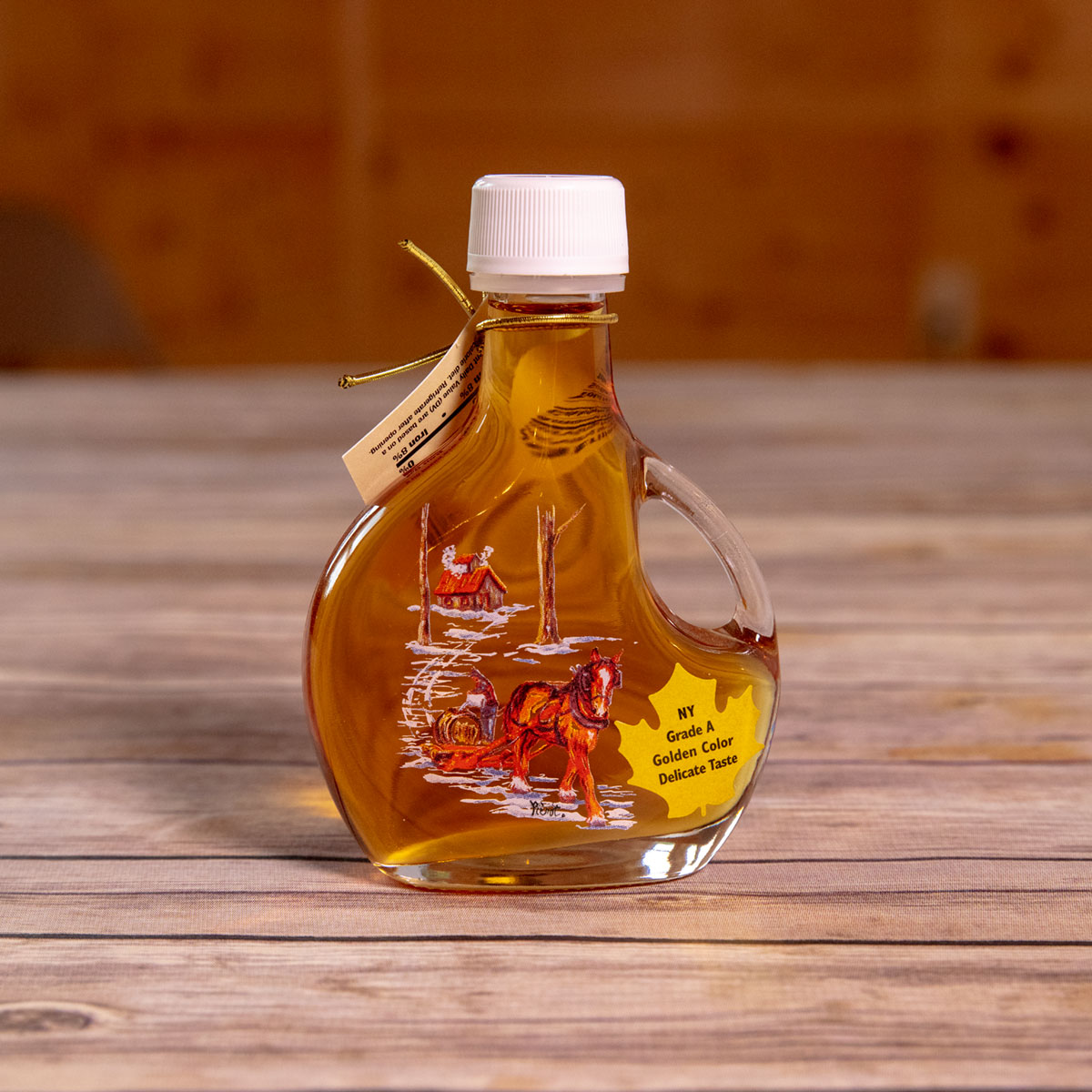 Bechard's PURE Maple Syrup Decorative Glass Jar 8.5 oz - Sugar House Basquaise